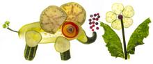 Elefant From Vegetable - Food For Children