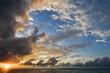 canvas print picture - Sonnenuntergang in Indonesien