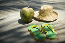 Yellow And Green Flip-flops, F...