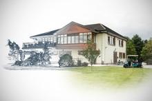 Composite Image Of Home Sketch