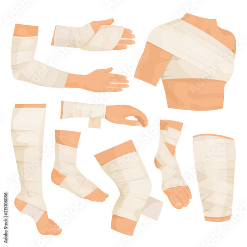 Bandaged body parts Canvas Print