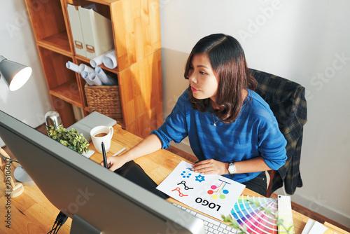 Fototapeta Freelance designer