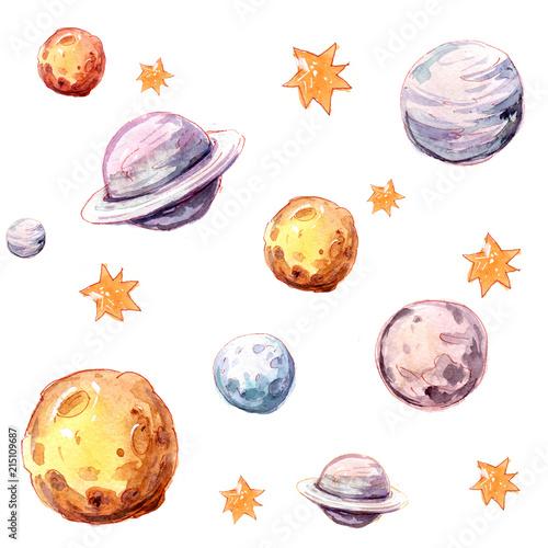 bezszwowy-wzor-z-astronautycznymi-przedmiotami-gwiazdy-planety-statek-kosmiczny-ilustracja-akwarela