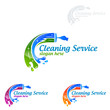 Cleaning Service vector Logo design, Eco Friendly Concept for Interior, Home and Building