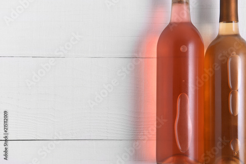 Photo  Two Bottles of Wine Still Life