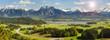 canvas print picture - Panorama Landschaft mit Berge am Forggensee im Allgäu in Bayern
