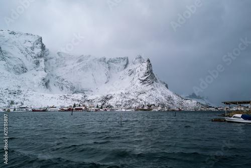 Spoed Foto op Canvas Antarctica Panorama of the Norwegian village