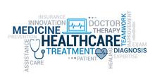 Medicine And Healthcare Tag Cloud