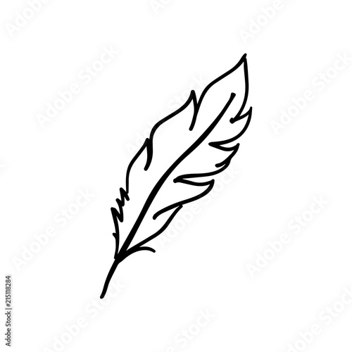 Feather vector icon isolated on white background