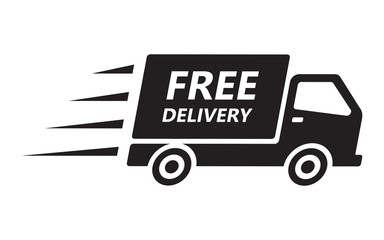 Fast and free shipping delivery truck