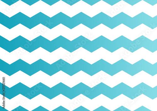 Foto op Canvas ZigZag Blue Chevron Pattern