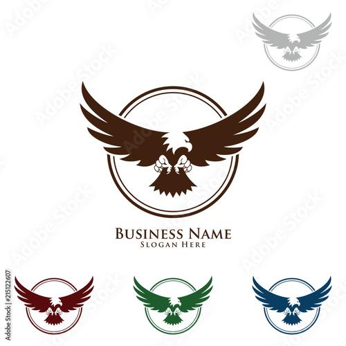 Eagle Logo Vector Wild Eagle Bird Falcon Hawk Concept Buy This Stock Vector And Explore Similar Vectors At Adobe Stock Adobe Stock