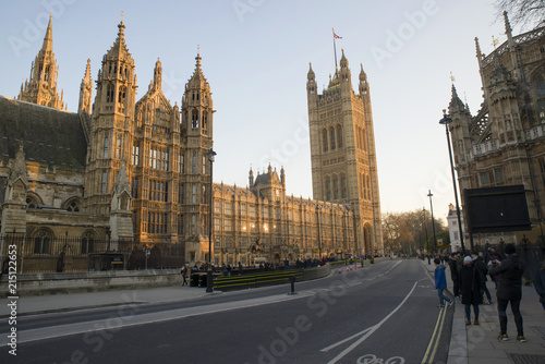 Cuadros en Lienzo Palace of Westminster the south side on Ablingdon St, Westminster England