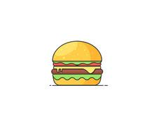 Burger Vector Illustration. Fl...