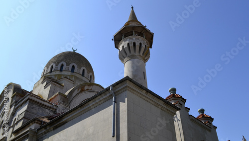 Keuken foto achterwand Oost Europa Old Turkish Mosque against clear sky as concept for peace and religious freedom