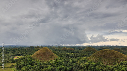 Fotobehang Donkergrijs The Chocolate Hills of Bohol island. Central Visayas-Philippines. 0600