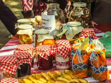 Traditional Fruit Jam Jars A P...