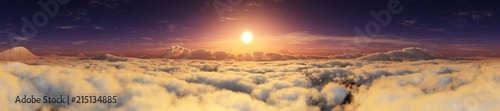 La pose en embrasure Beige Panorama of clouds. Panorama of the sky. Above the clouds. 3D rendering
