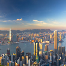 Skyline Of Hong Kong Island And Kowloon From Victoria Peak, Hong Kong Island, Hong Kong