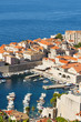 Croatia, Dubrovnik, Old town harbour from Srdj