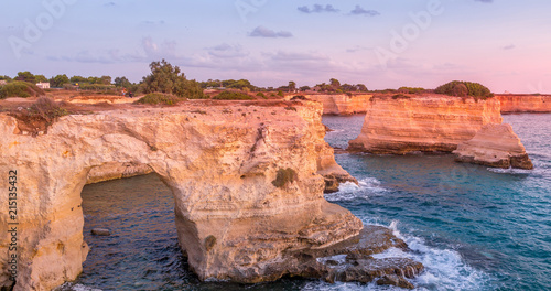 Italy, Santo Andrea cliffs in Puglia Wallpaper Mural