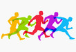 Abstract colorful silhouette running man. Healthy lifestyle concept. Vector illustration.