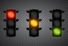 Realistic 3d Led Traffic Light...