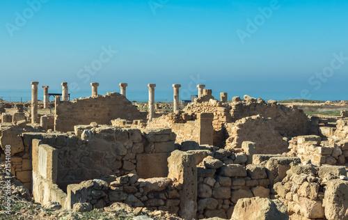 In de dag Rudnes Руины острова Кипр