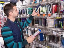 Male Customer  Buying Fishing Lures