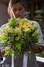 A Flower Farmer Designs And Displays A Bouquet From Flowers She Has Grown
