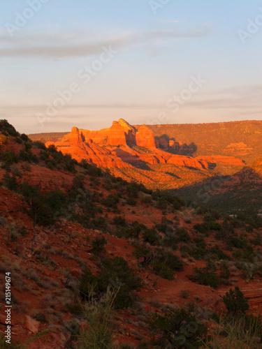 Foto op Plexiglas Bruin Sedona Arizona desert canyon stream creek river hill mountain redrock mesa ghost ghosttown saloon