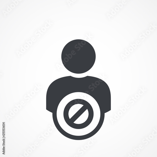 Photo Blacklist sign icon