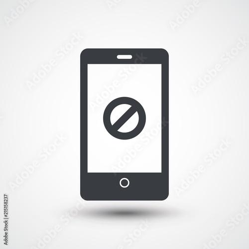 Foto Smartphone and block symbol