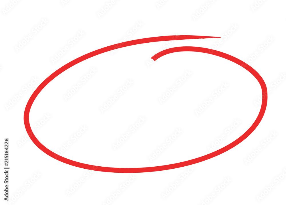 Fototapeta circle pen draw concept 3d illustration isolated