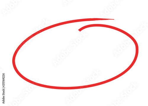 Canvastavla circle pen draw concept 3d illustration isolated