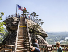 Tourist At Chimney Rock Lake Lure North Carolina