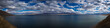 Panorama Walker Lake in Nevada, clouds, cloudscape nature landscape nobody copy space