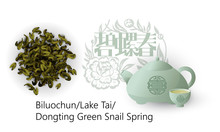 Chinese Green Tea Biluochun . Chinese Signs Mean The Name Of The Tea - Green Snail Spring