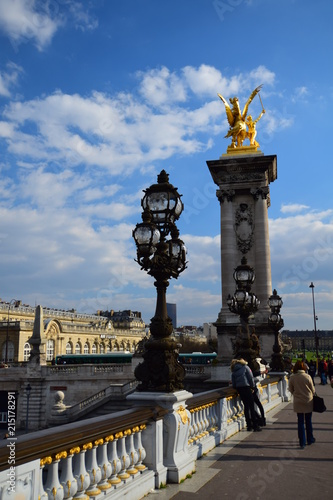 In de dag Monument The famous Pont Alexandre III over the Seine in Paris