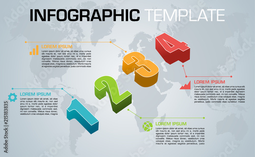 Modern colorful infographics options template vector with colorful