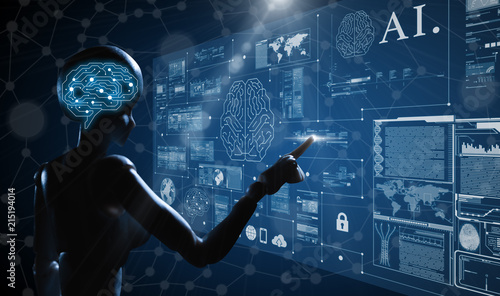 Fotografija AI, Artificial intelligence conceptual of next generation technology