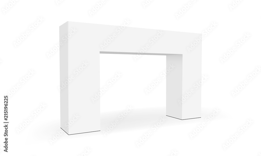 Fototapety, obrazy: Trade show arch isolated on white background. Exhibition equipment mockup. Vector illustration
