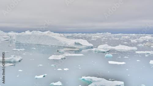 Tuinposter Poolcirkel Icebergs