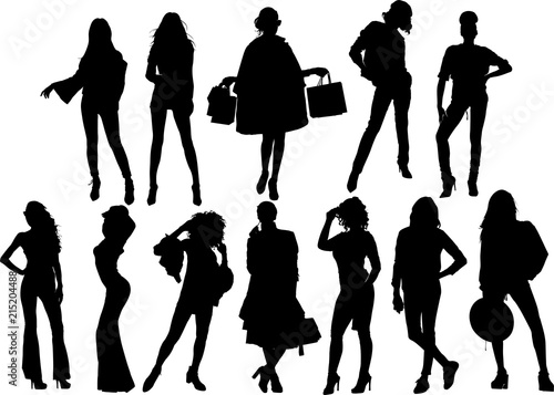 Photo  女性モデルのシルエット