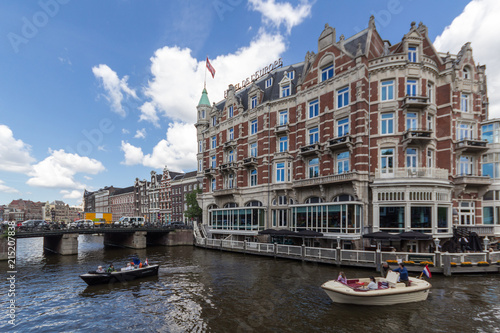 Photo  Canals of Amsterdam, capital city of the Netherlands