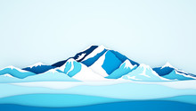 Ice Mountain Background For Ar...