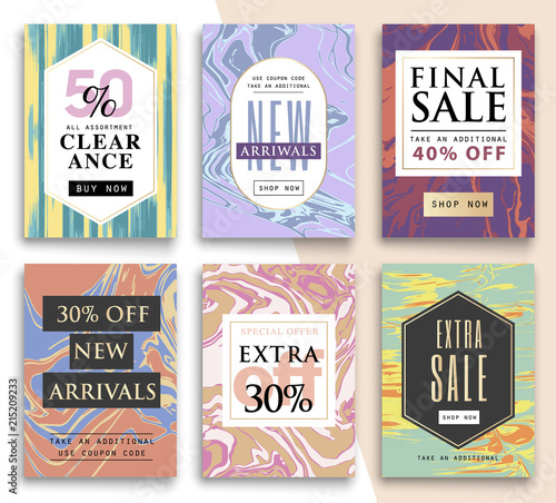 set sale template eye catching sale website banners for mobile phone