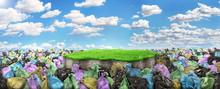 Concept Of Pollution. A Garbag...
