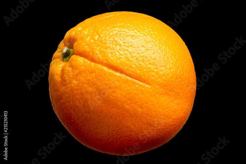 Foto op Aluminium Vruchten Fresh orange fruit isolated on black background.