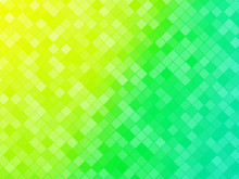 Abstract Green Yellow Tiled Background